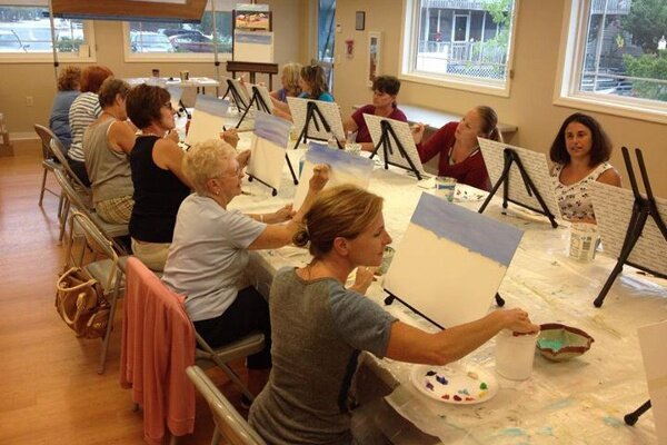 Local colors, watercolors workshop with Gerilyn Gaskill